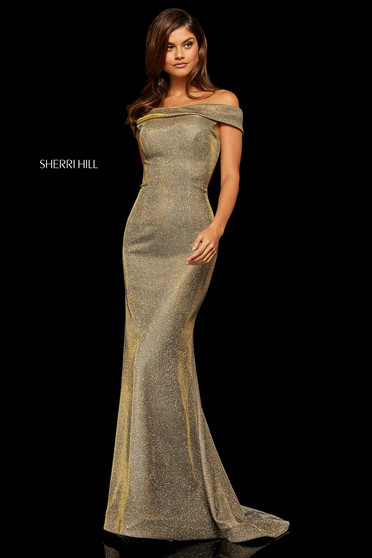 Sherri Hill 52825 Gold Dress