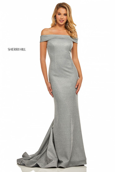 Sherri Hill 52825 Silver Dress