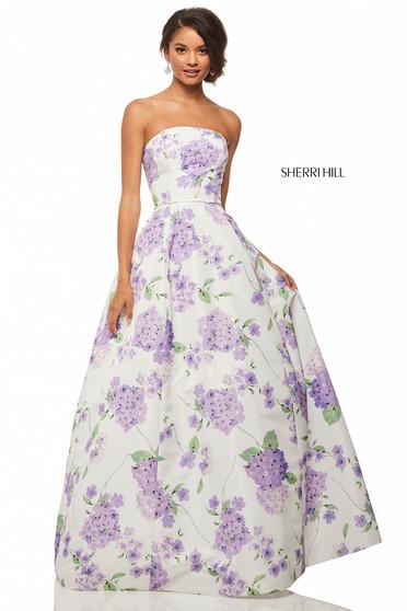 Sherri Hill 52865 White Dress