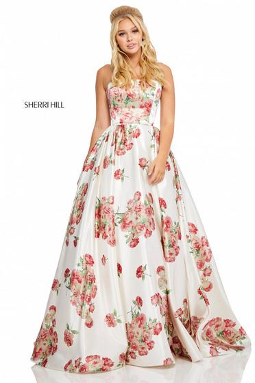 Sherri Hill 52867 White Dress