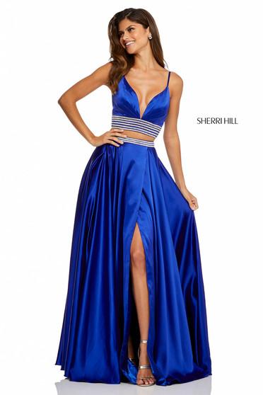 Sherri Hill 52907 Blue Dress