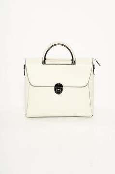 Nude office bag medium handles natural leather