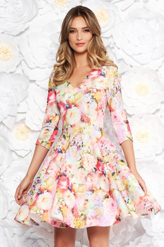StarShinerS rosa daily cloche dress slightly elastic fabric with floral prints
