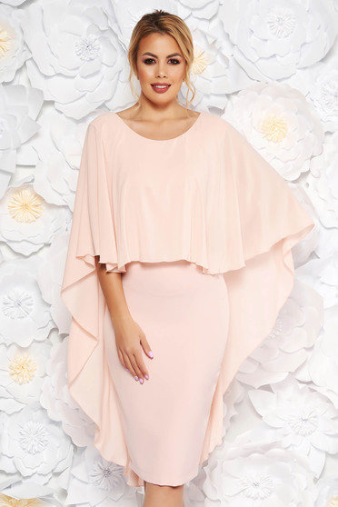 Dress StarShinerS from veil voile overlay peach