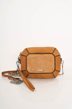 Top Secret brown casual bag upper material: ecological leather long chain handle