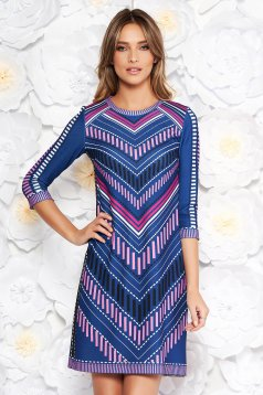 StarShinerS blue dress flared from elastic fabric