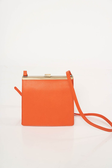 Orange bag clubbing from ecological leather