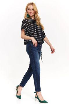 Top Secret blue jeans skinny jeans with medium waist slightly elastic cotton