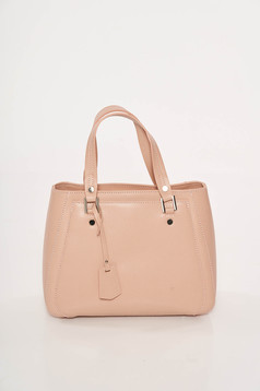Peach office leather bag