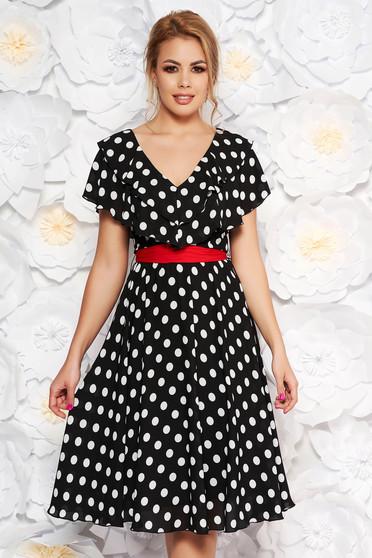 SS19-r004XARA Black Dress