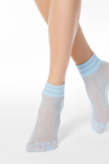 Lightblue net stockings tights & socks from elastic fabric shimmery metallic fabric