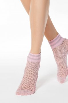 Lightpink net stockings tights & socks from elastic fabric shimmery metallic fabric