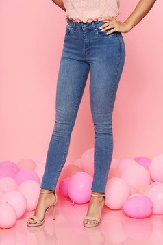 Top Secret lightblue skinny jeans with medium waist slightly elastic cotton