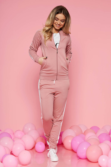 SunShine rosa sporty set slightly elastic cotton with tented cut with medium waist with elastic waist
