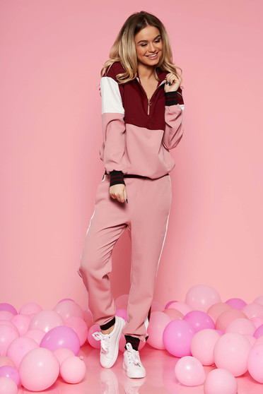 SunShine rosa casual with easy cut set soft fabric with pockets with elastic waist