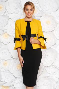 LaDonna mustard elegant cloth lady set with bell sleeve
