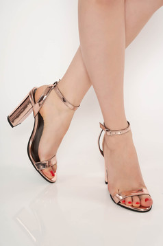 Rosa occasional sandals natural leather chunky heel