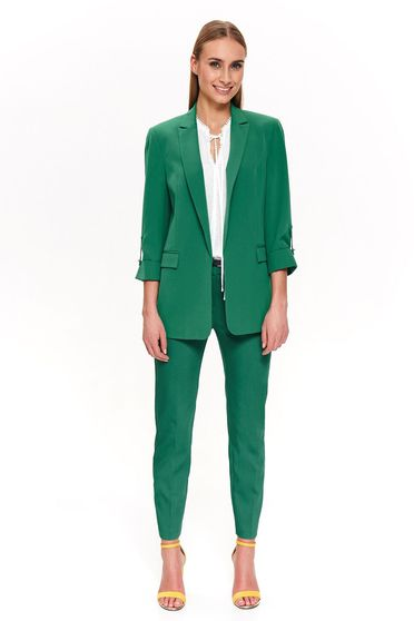 Top Secret green elegant jacket with straight cut 3/4 sleeve soft fabric