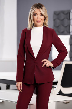 StarShinerS burgundy jacket with inside lining office from non elastic fabric arched cut