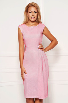 StarShinerS lightpink occasional dress with tented cut with inside lining