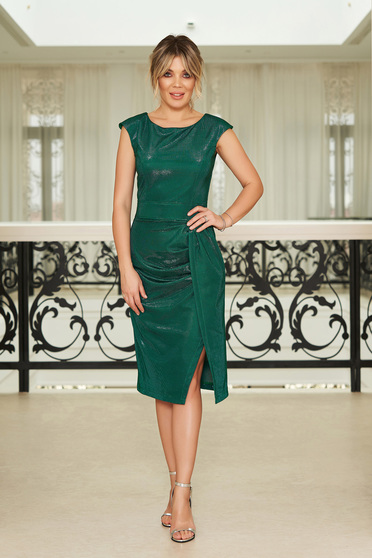 StarShinerS green occasional dress with tented cut with inside lining