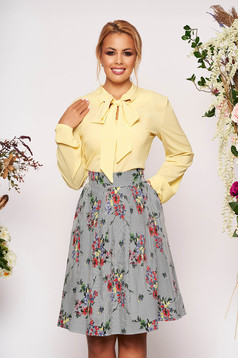 StarShinerS yellow elegant set from 2 pieces with a skirt flaring cut