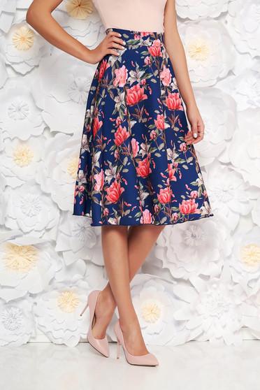 StarShinerS blue elegant cloche skirt high waisted slightly elastic fabric