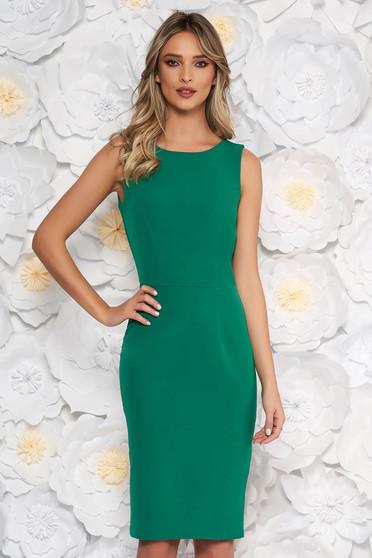 StarShinerS green elegant pencil dress slightly elastic fabric