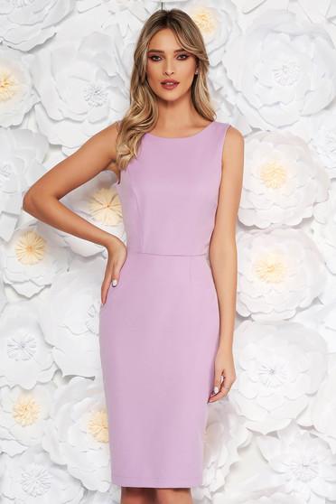 StarShinerS lila elegant pencil dress slightly elastic fabric