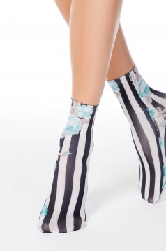 Turquoise tights & socks soft fabric with print details