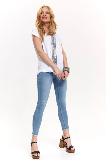 Top Secret white casual flared t-shirt thin fabric