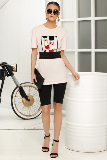 Rosa casual flared t-shirt short sleeves thin fabric