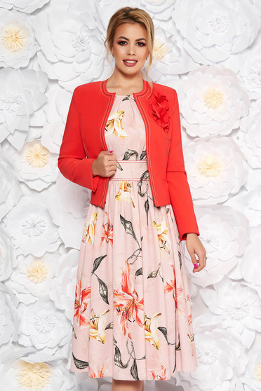 LaDonna coral elegant lady set from 2 pieces with floral print