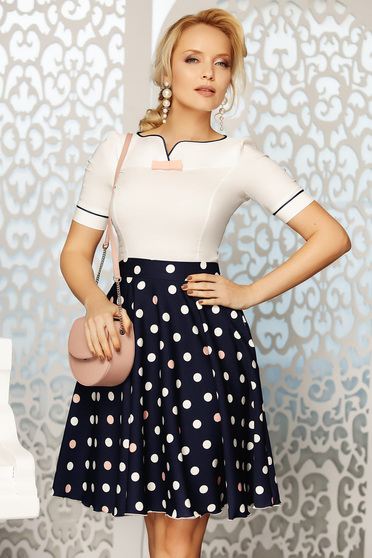 Fofy rosa elegant cloche skirt high waisted soft fabric with dots print