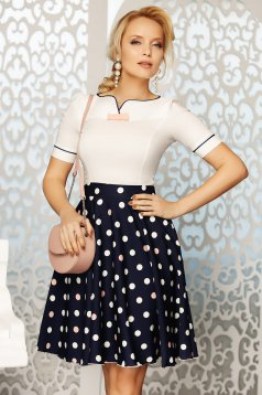 Fofy rosa elegant women`s shirt with tented cut slightly elastic cotton bow accessory