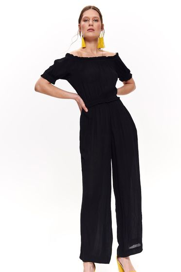 Top Secret black casual flared jumpsuit airy fabric