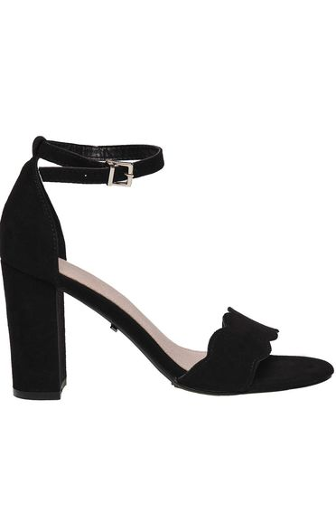 Top Secret black elegant sandals chunky heels