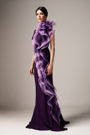 Ana Radu purple occasional long mermaid dress with tented cut