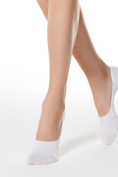 White socks elastic cotton