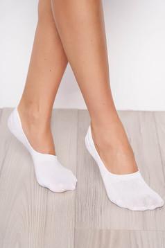 White socks elastic cotton