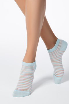 Turquoise socks elastic cotton fitted heel