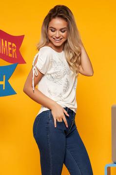 White women`s blouse short sleeve