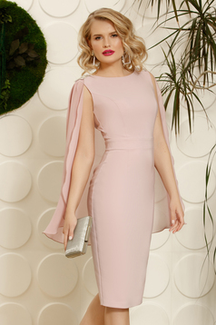 PrettyGirl rosa occasional pencil dress sleeveless with crystal embellished details