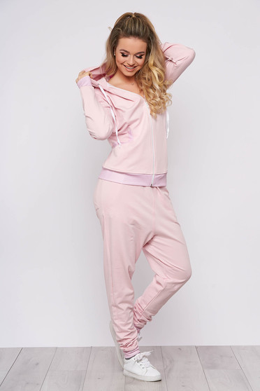 SunShine lightpink casual set from 2 pieces slightly elastic cotton