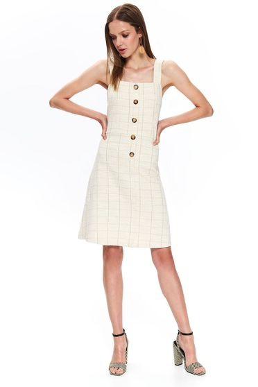 Top Secret peach daily a-line dress bareback sleeveless nonelastic cotton