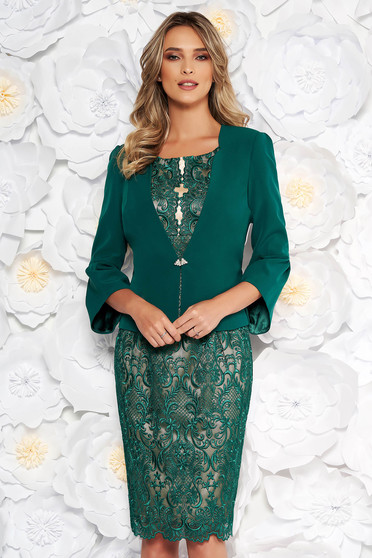 Green elegant lady set 2 pieces laced