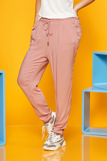 Rosa trousers with laced details with pockets airy fabric