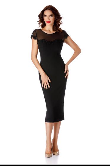 Black occasional pencil dress bareback