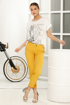 White long flared t-shirt short sleeve slightly transparent fabric