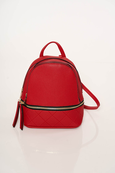 Red backpacks casual detachable straps adjustable straps zipper accessory